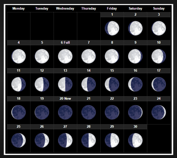 Moon Phase Sept 2017